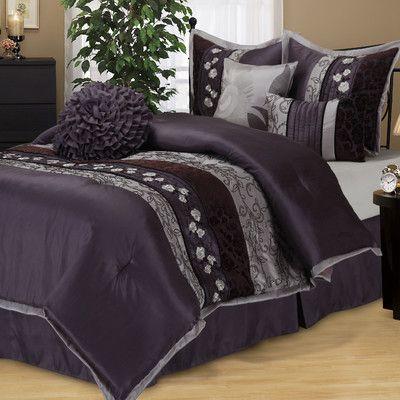 Ophelia Co Jayda Riley Paisley Rod Pocket Semi Sheer Curtain Panel Set Of 2 Comforter Sets Purple Comforter Set Purple Bedding