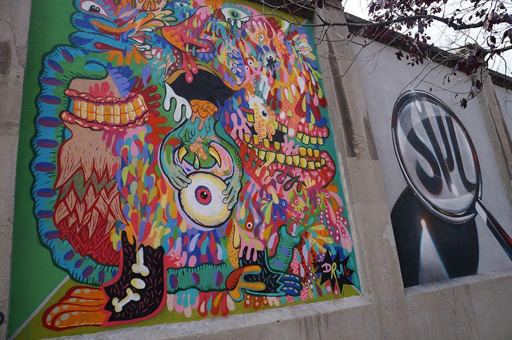 """Proyecto """"Muros"""".#ArteTabacalera Promoción del Arte #ArteUrbano #StreetArt Madrid.Día4 #Arterecord 2014"""