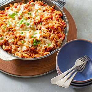 Chili-Pasta Skillet | Recipe | Foods to lower triglycerides, Healthy casserole recipes ...
