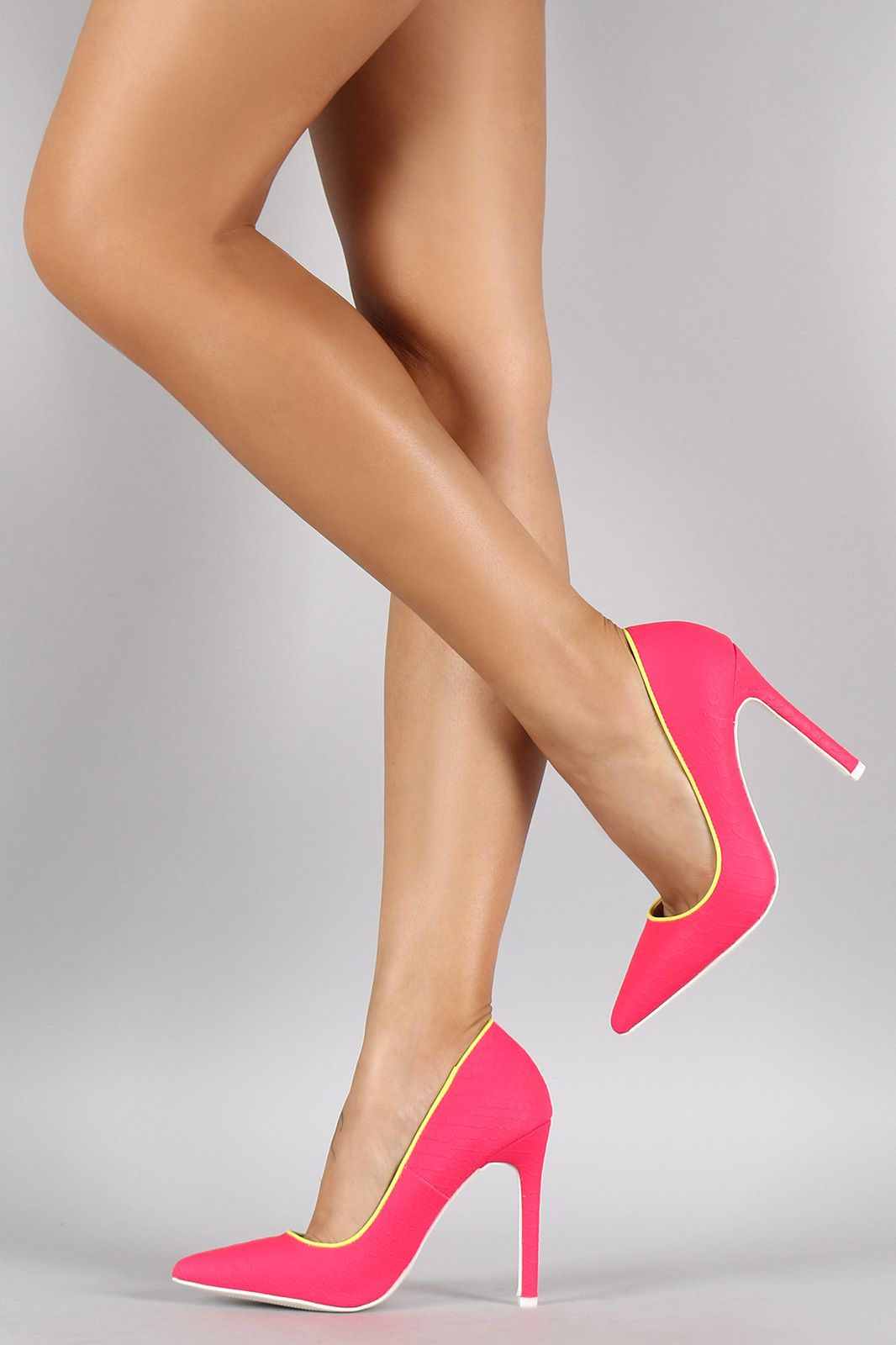 cc85b5f36 Liliana Neon Snake Pointy Toe Pump | Made for walking in 2019 ...
