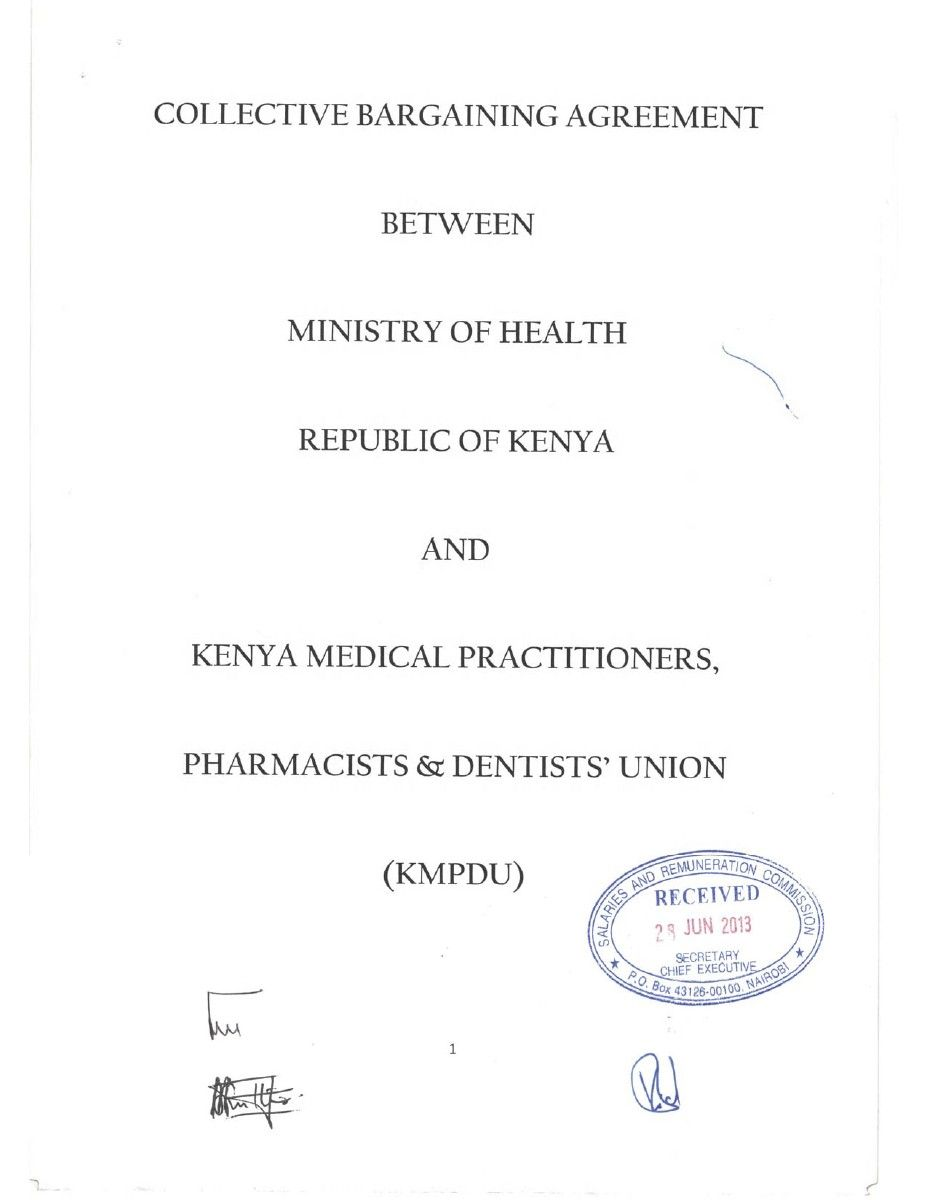 CBA between the Ministry of Health & KMPDU (signed)2.pdf