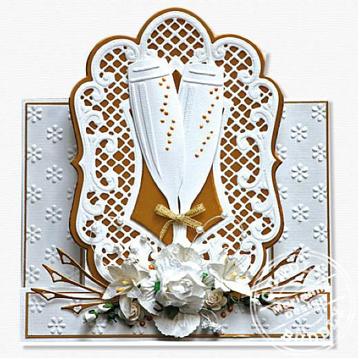 Anja S Large Oval Creatable Wedding Card Craft Ideas Cuddly