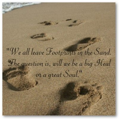 Footsteps In The Sand Poster A Little Wisdom Quotes Sand