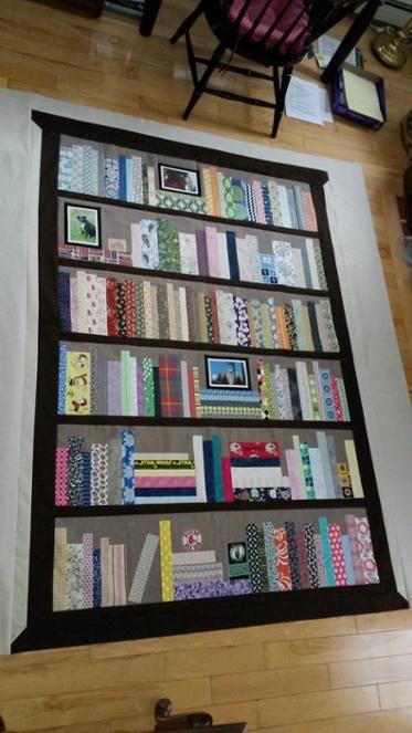 Bookshelf Quilt Applique Patterns Pattern Blocks Bookcase Wall Bookshelves Book