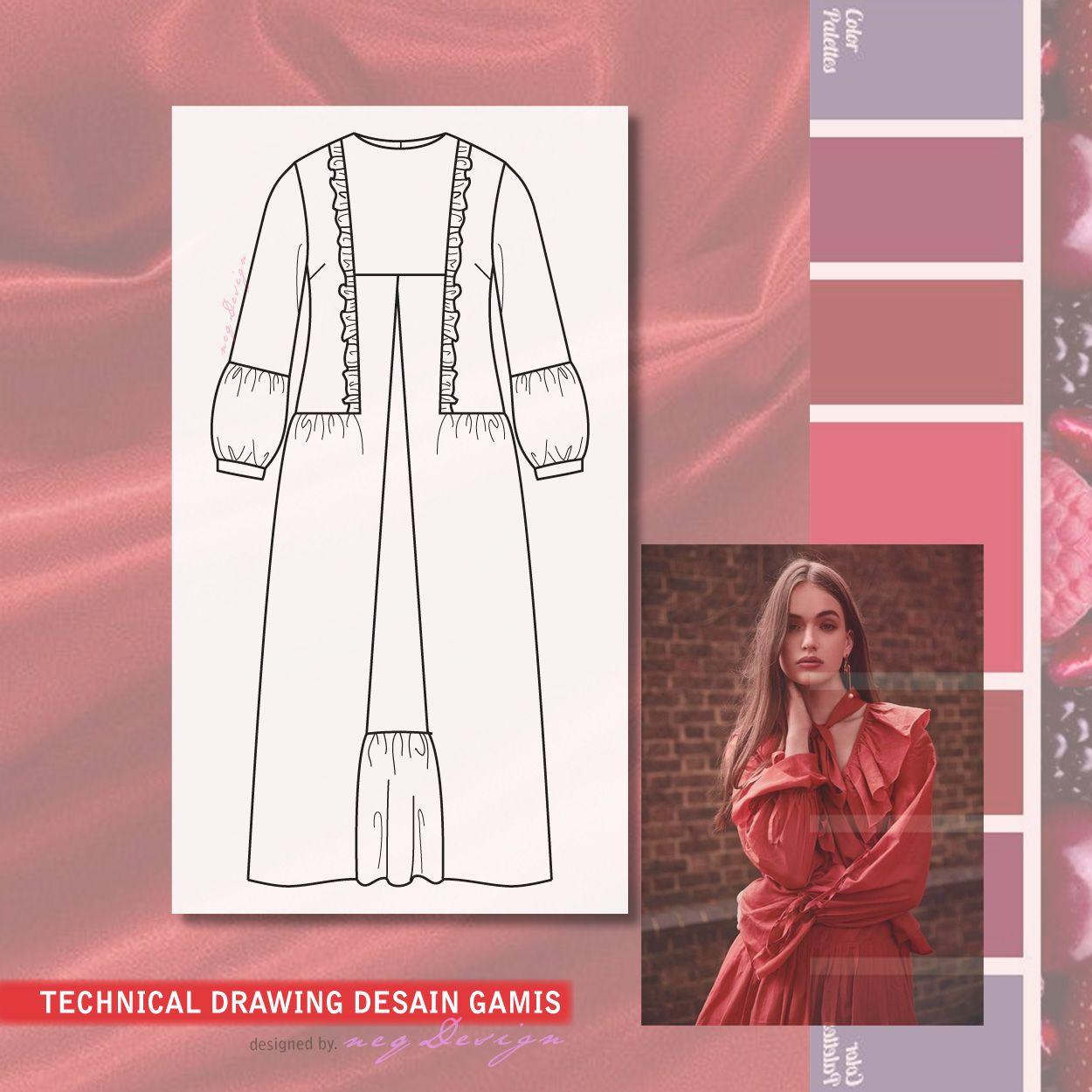Desain Baju Gamis di 8  Desain