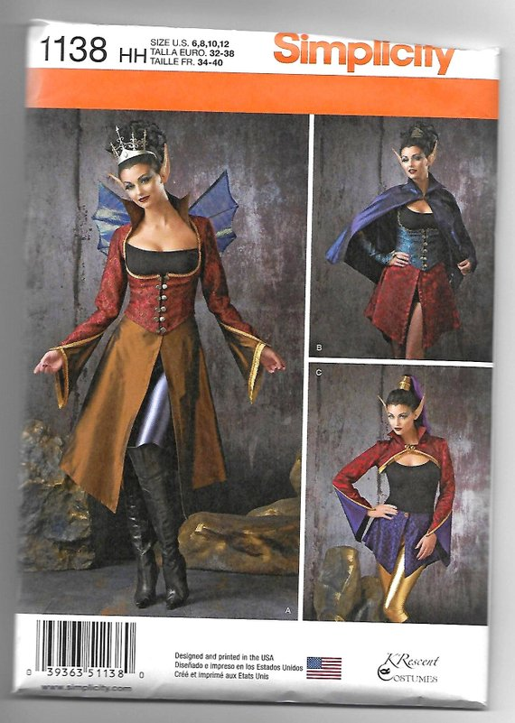 McCalls M7735 Sewing Pattern Outlander Scottish Costume Claire Jacket Skirt 6-22