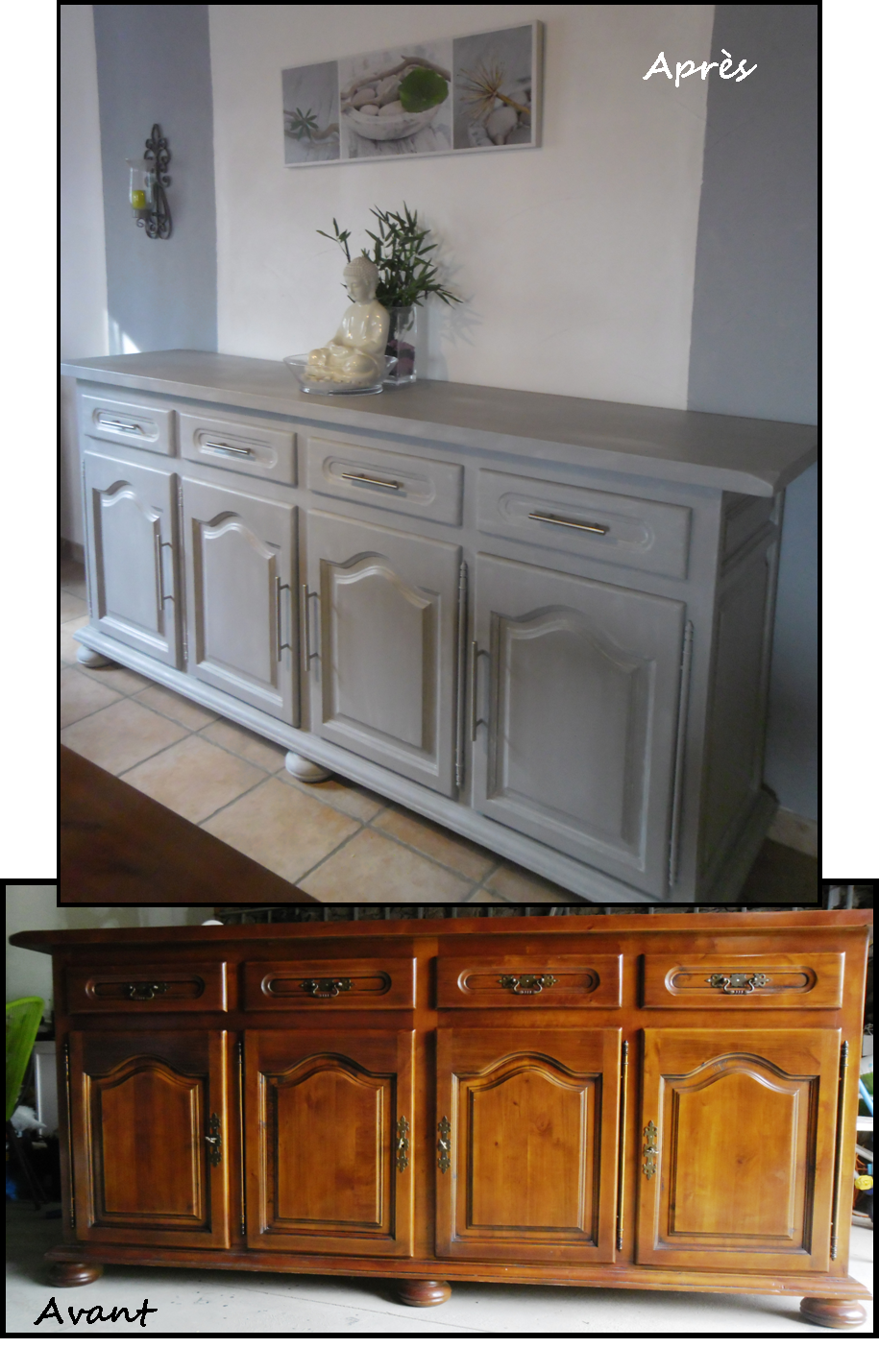 Relooking enfilade pinteres Amenager cuisine vieux meubles