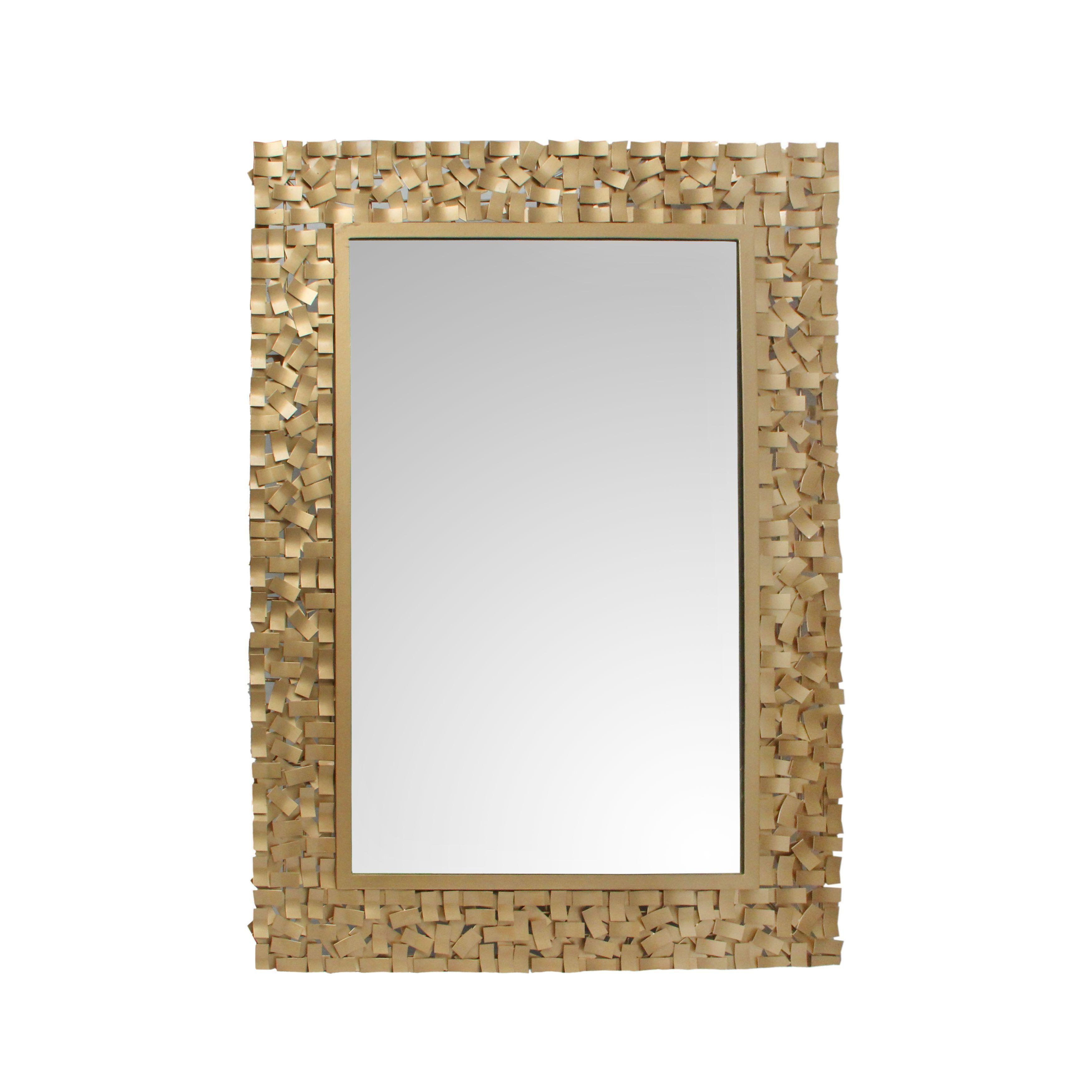 Aurelle home rectangular gold mirror rectangular gold mirror size