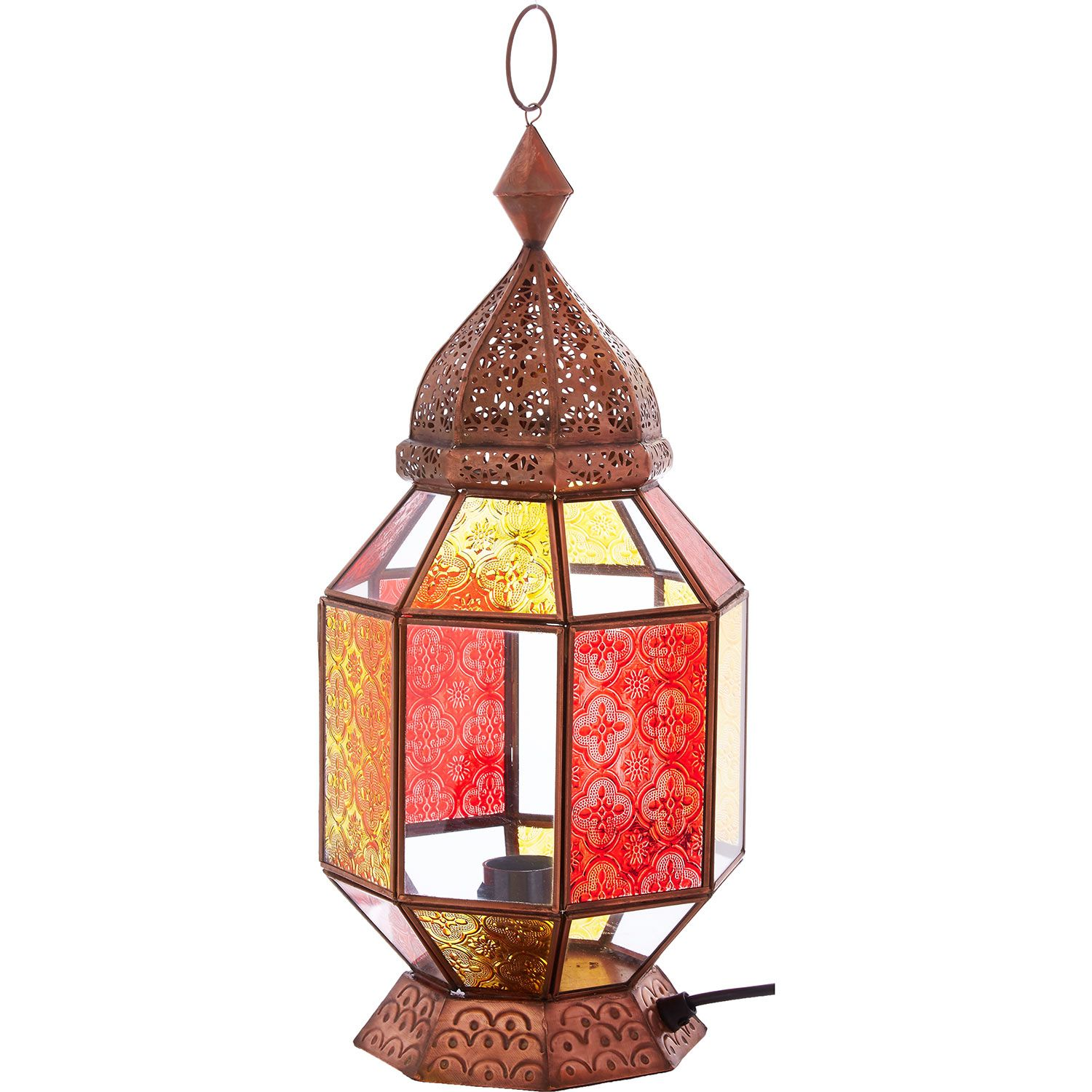Copper Cut Out Lantern  Tk Maxx