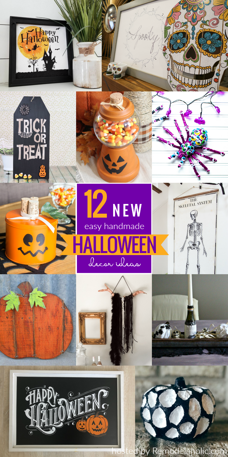 12 Easy Spooky Or Not Halloween Decor Tutorials Diy Halloween Decorations Fun Halloween Decor Dollar Store Halloween