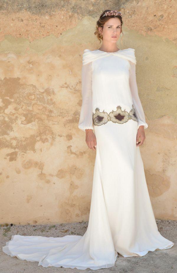 vestidos de novia con manga larga #boda #vestidos #novias | brides