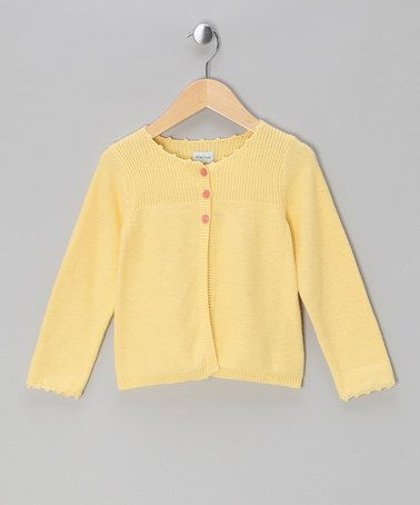 $35. Take a look at this Mellow Yellow Elsa Wool-Blend Cardigan - Infant & Toddler by MINI A TURE on #zulily today!