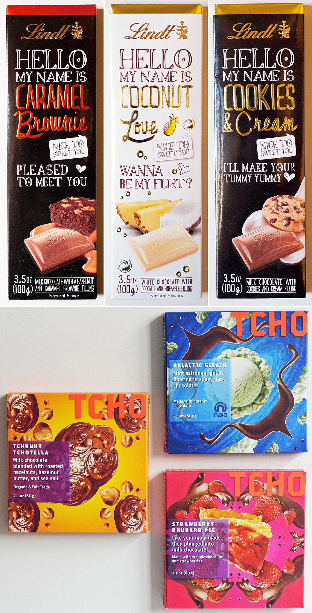 How fun are these chocolate bar packagings?
