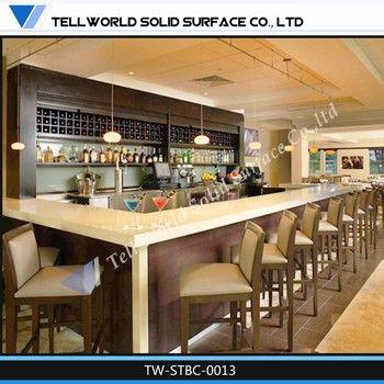 Taille personnalisée comptoir de bar design boutique de café ...