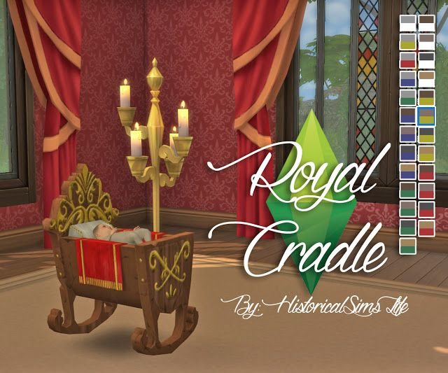 Royal Cradle Conversion from The Sims Medieval by Anni K at Historical Sims Life • Sims 4 Updates