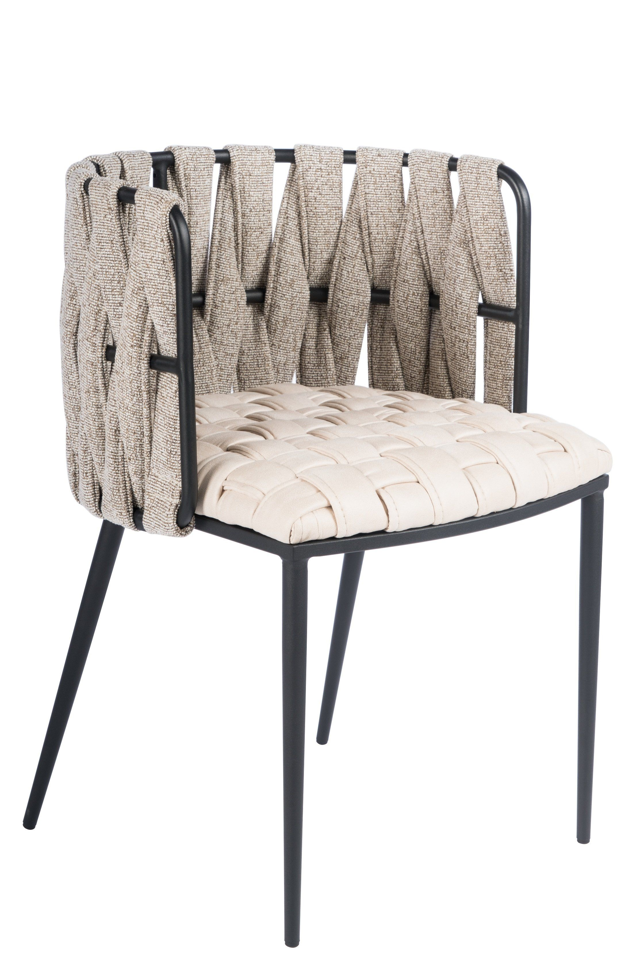 1538DC-BGE-Milano Dining Chair in Off White   Upholstered ...