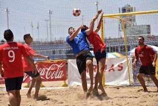 Tiempo De Deporte Pistoletazo De Salida Al Fútbol Playa En Las Cante Futbol Playa Fútbol Deportes