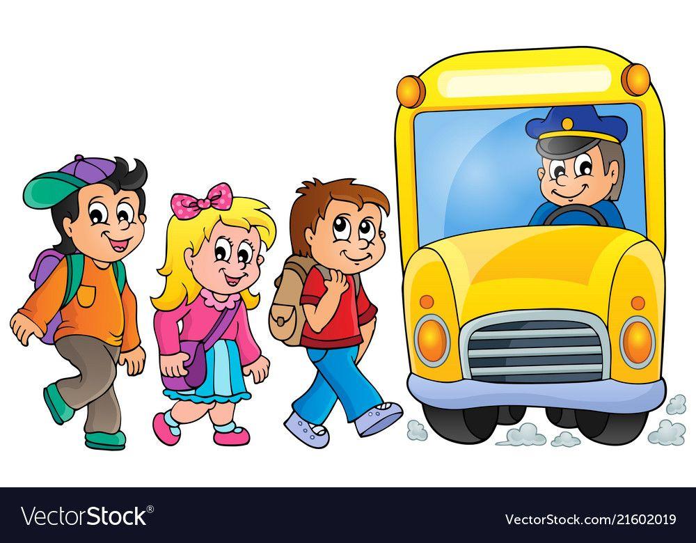 Image With School Bus Topic 1 Eps10 Vector Illustration Download A Free Preview Or High Quality Adobe Illustrato Autobus Escolar Educacion Inicial Escolares