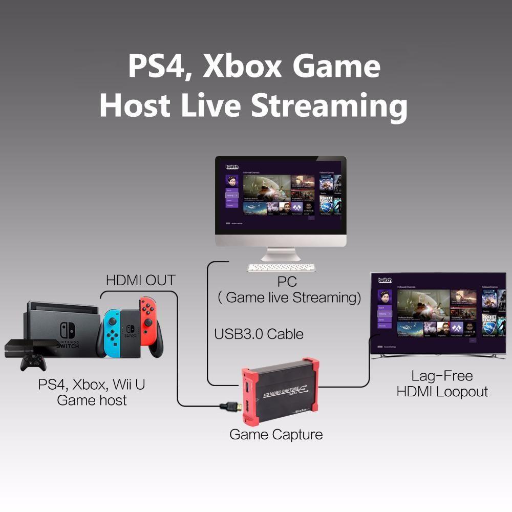 USB3 0 1080P 60fps HDMI Video Capture Card Recording USB 3 0