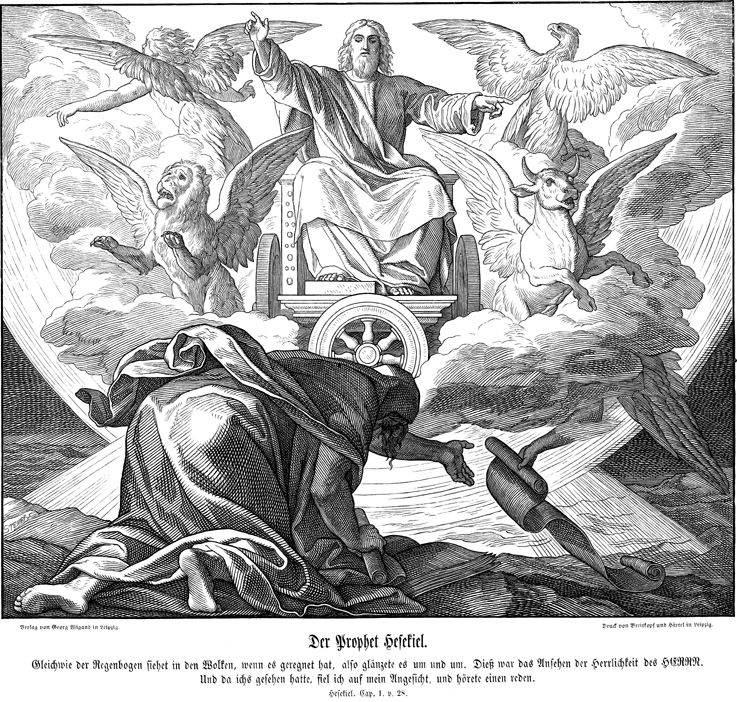 The Prophet Ezekiel Access To The Kindom Of Heaven The Four Living