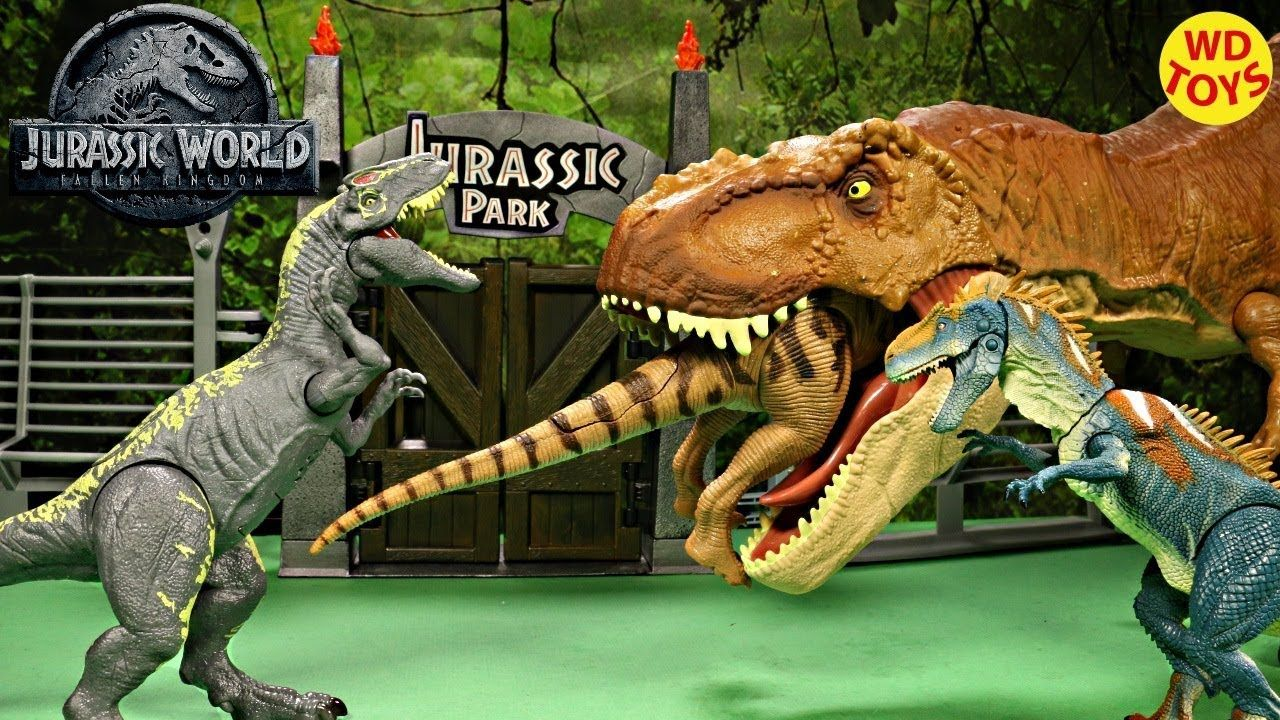 New Jurassic World Allosaurus Roarivores Unboxing T-Rex Vs ...