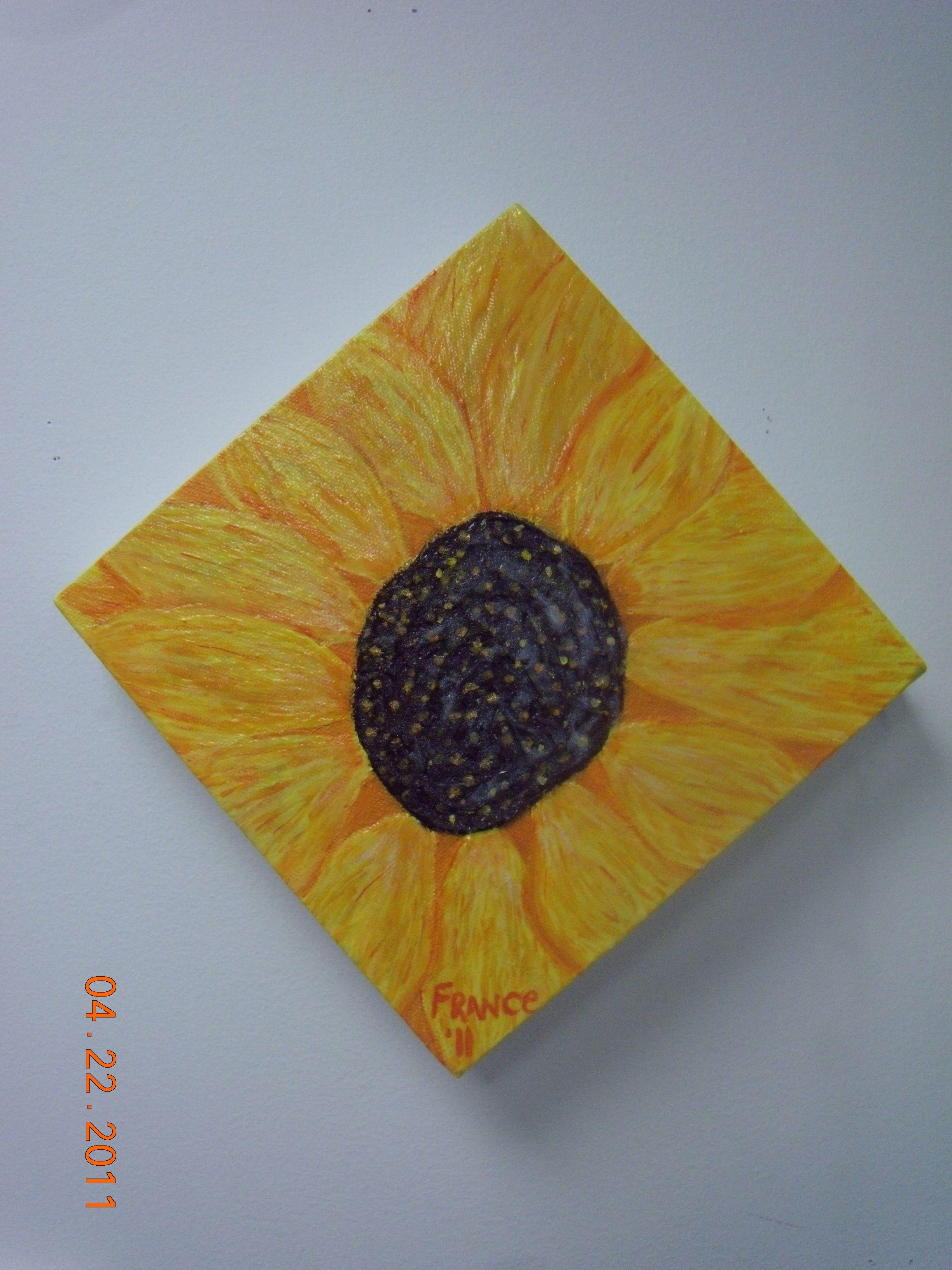 Sunflower painted in iraq my art pinterest