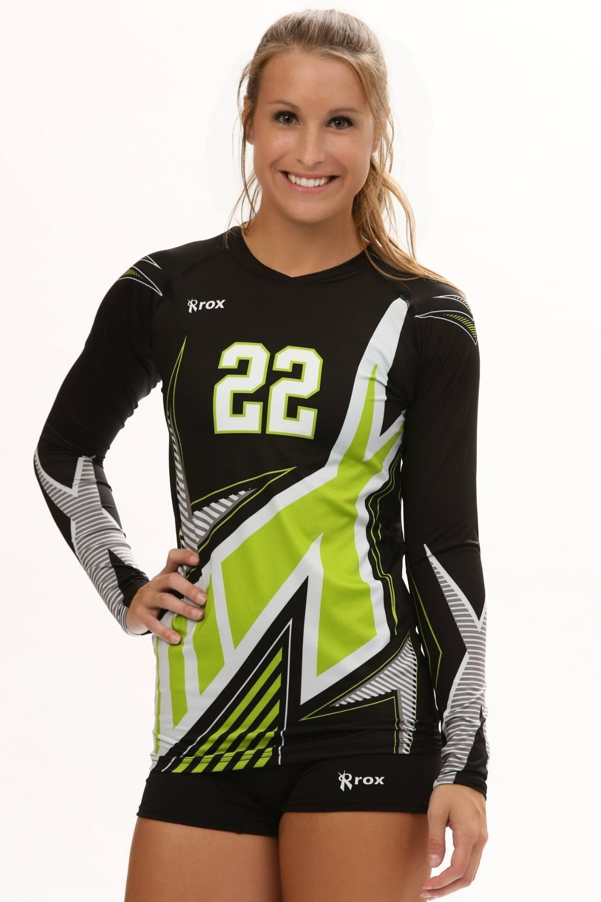Xcelerator Women S Sublimated Volleyball Uniform Team Jersey Volleyball Uniforms Women