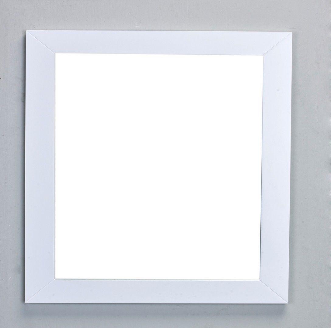 Eviva New York Bathroom Vanity Mirror Full Frame White 30x31 Wall