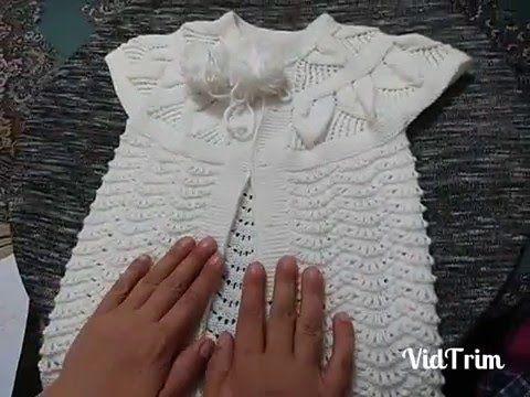 1 Yaş Yaprak Modelli Bebek Yeleği Yapımı Videolu Anlatımlı