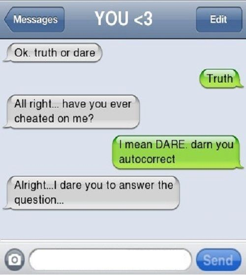 Funny dares to do over text