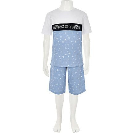 watch top style sleek River Island Boys Blue 'Snooze mode' pyjama set | Products ...