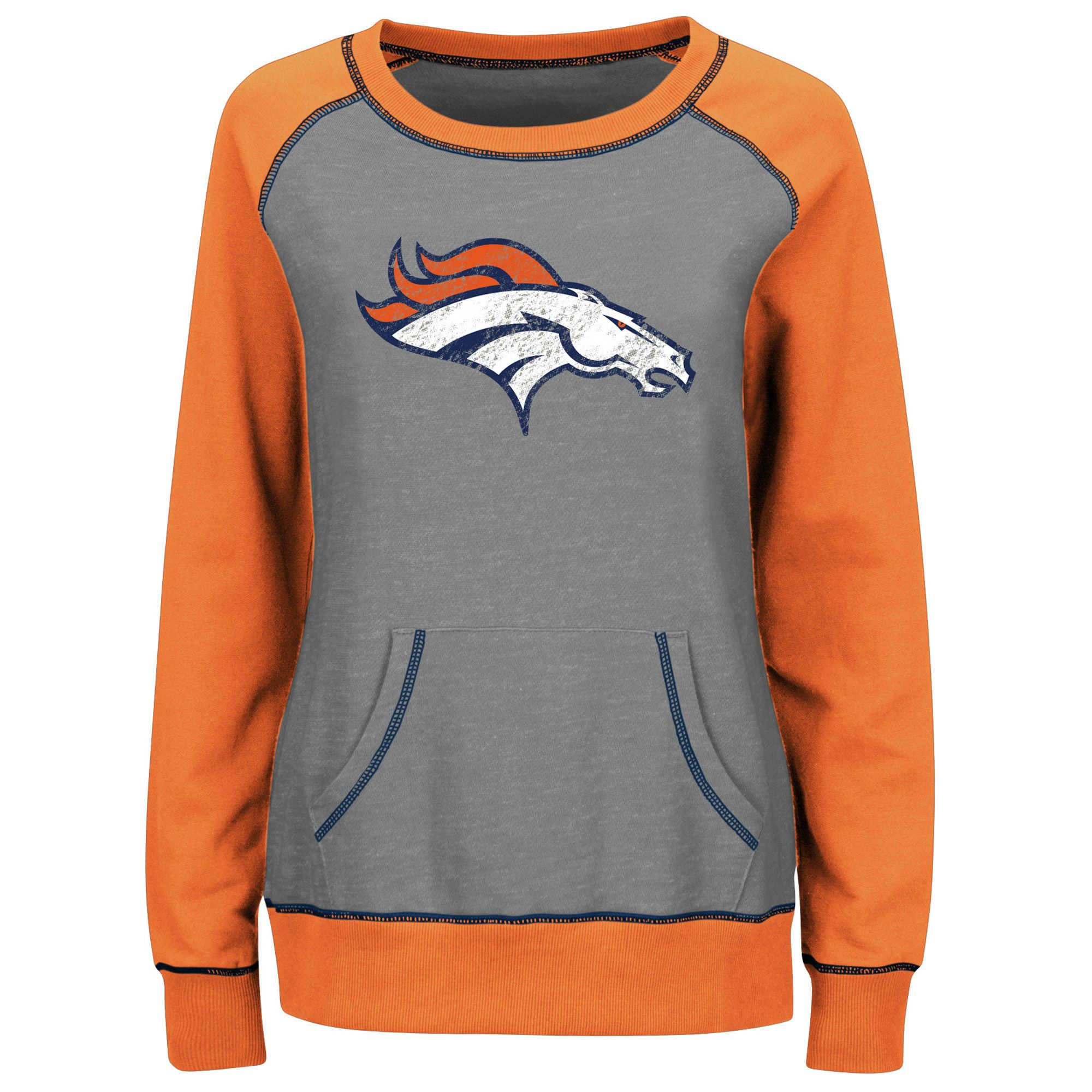 e253e36c9 new zealand womens new york jets majestic green quick out v neck hoodie  4df75 fe00b  spain womens denver broncos majestic gray orange overtime  queen crew ...