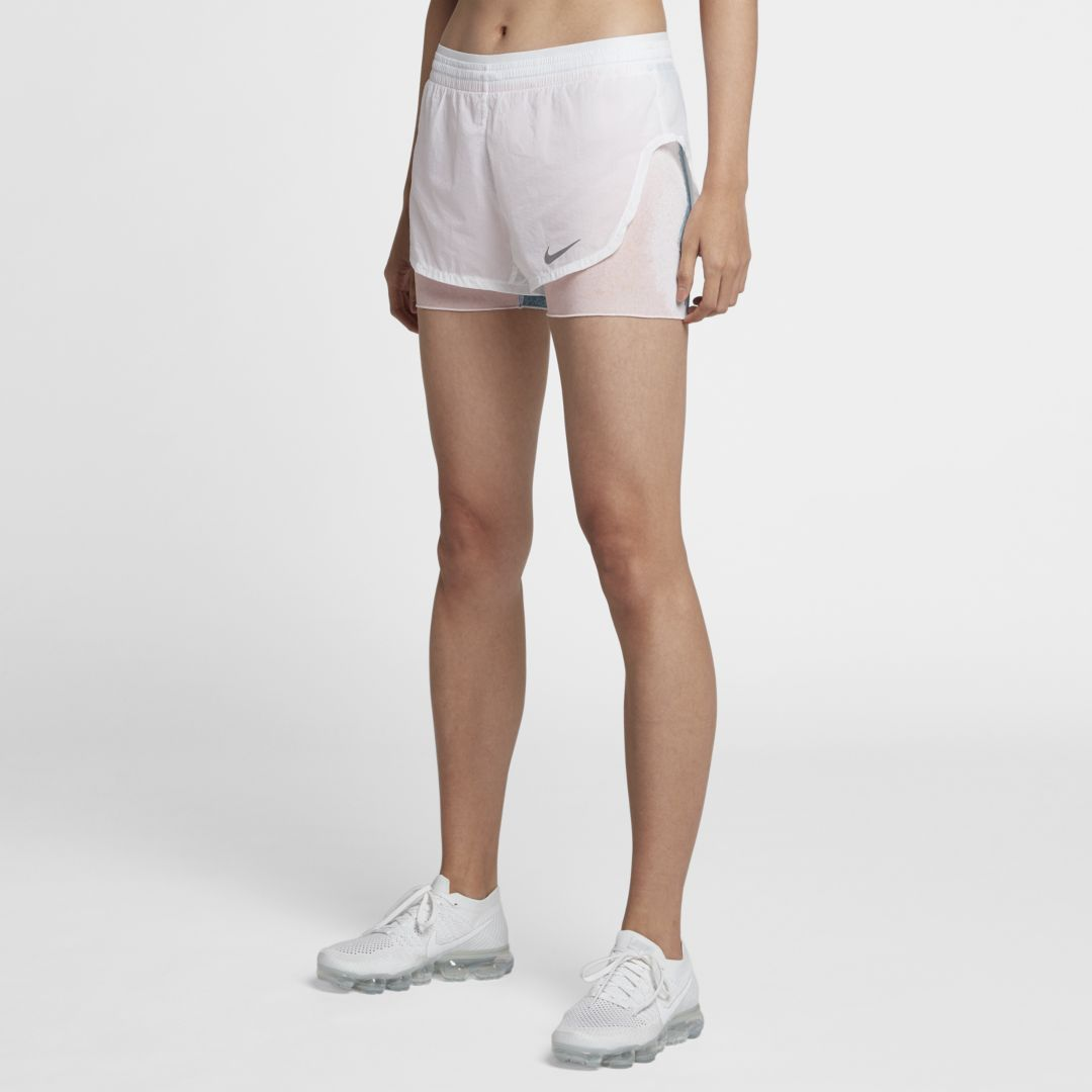 on feet at well known buy cheap Nike Elevate 2-in-1 Women's Running Shorts Size XS (White ...