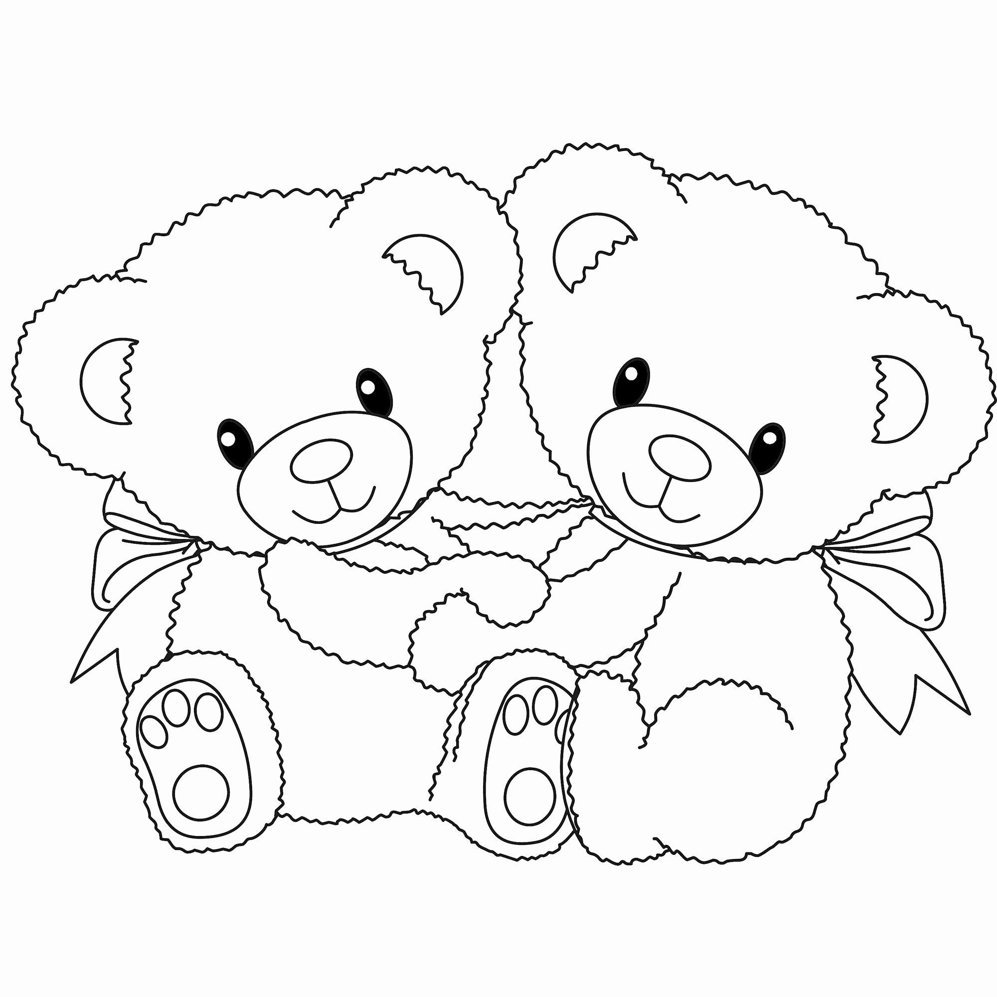 Coloring Cartoon Bears In 2020 Teddy Bear Coloring Pages Panda