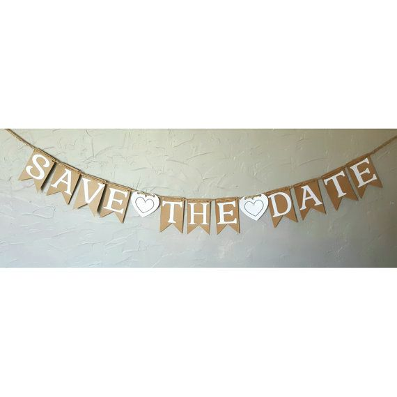 Save The Date Banner / Wedding Banner / Engagement / Save The Date / Rustic…