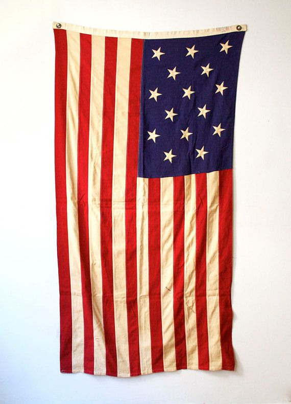 """15 Star and Stripe Flag via Jacks Red Barn.[]""""The Star Spangled Banner"""" America's Second Greatest War Ensign"""