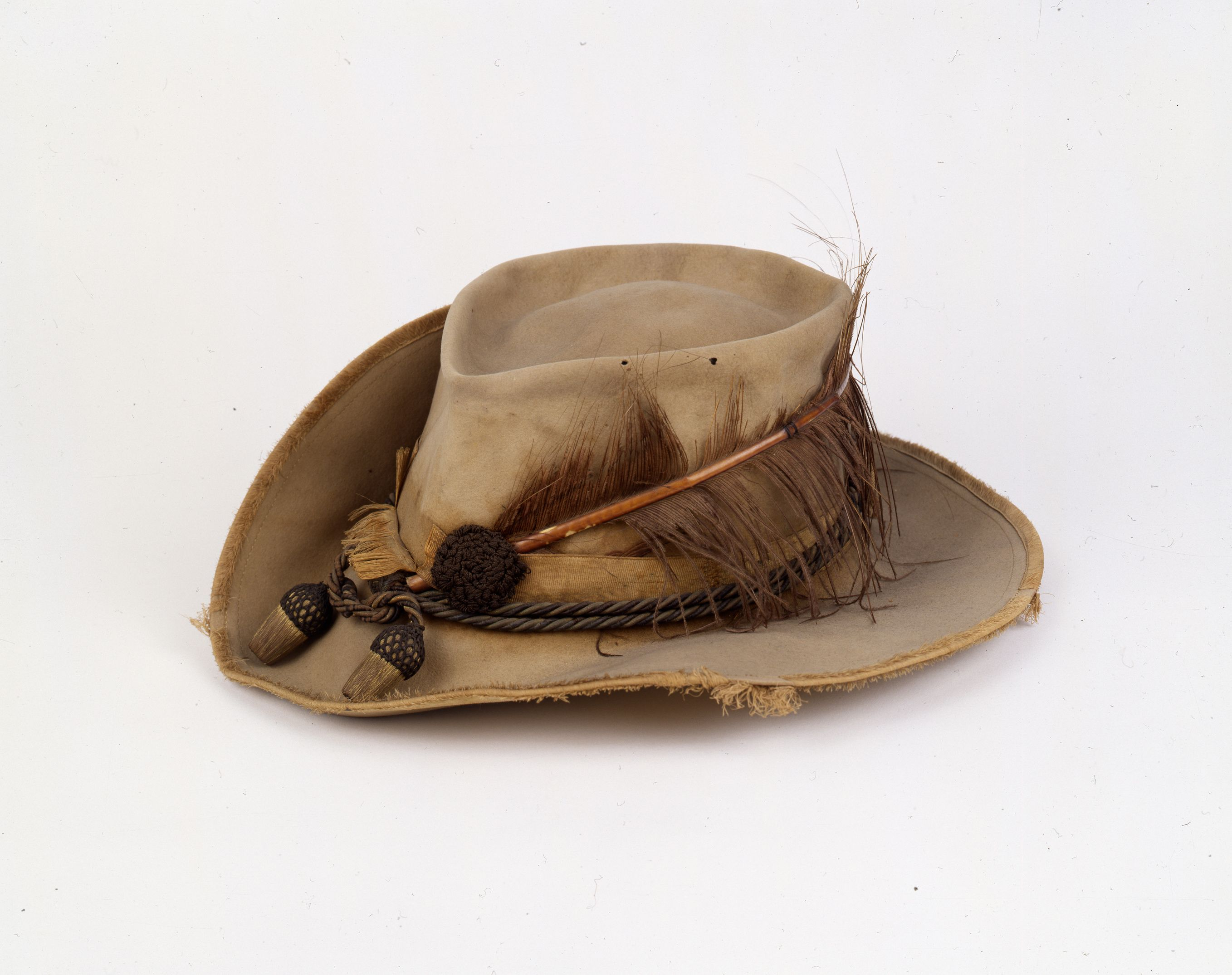 Plumed hat worn by General J E B  Stuart  The hat was made