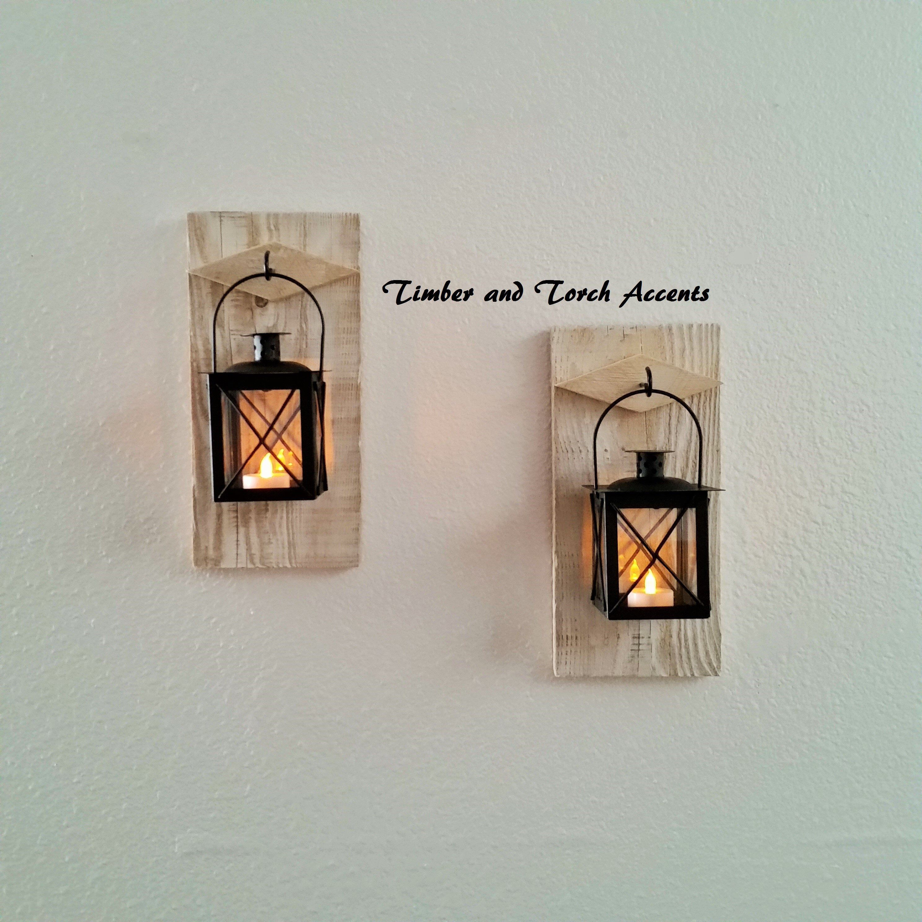 Rustic Wall Sconce Wall Sconce Primitive Country Decor Etsy Rustic Candle Sconce Rustic Wall Sconces Flameless Tea Lights