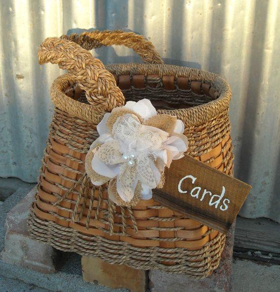 wedding card holder rustic wedding card