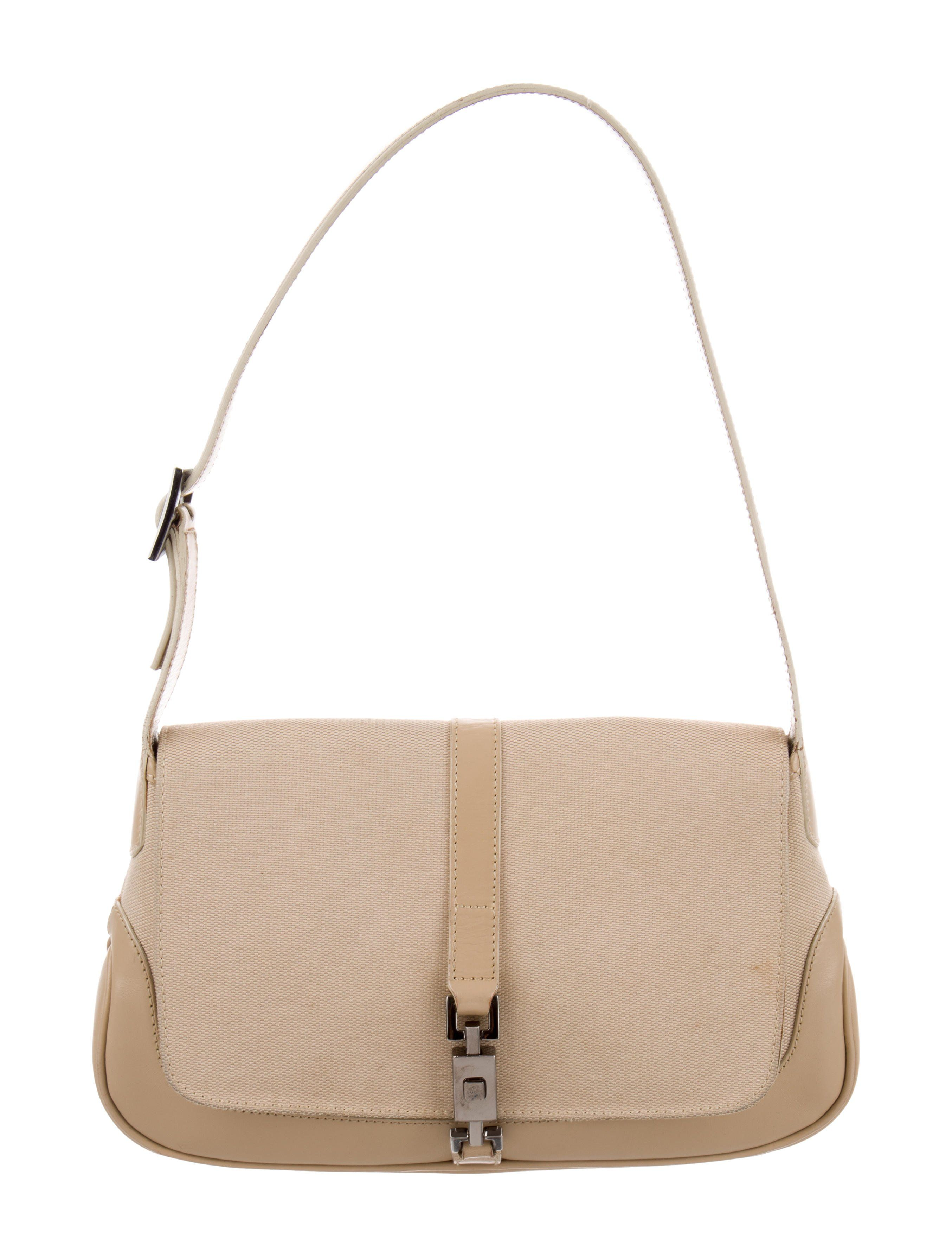 1daac8f94d9 Tan canvas Gucci Small Jackie bag with silver-tone hardware