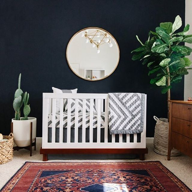 LOVE this sophisticated nursery by @avestyles. #landgathome