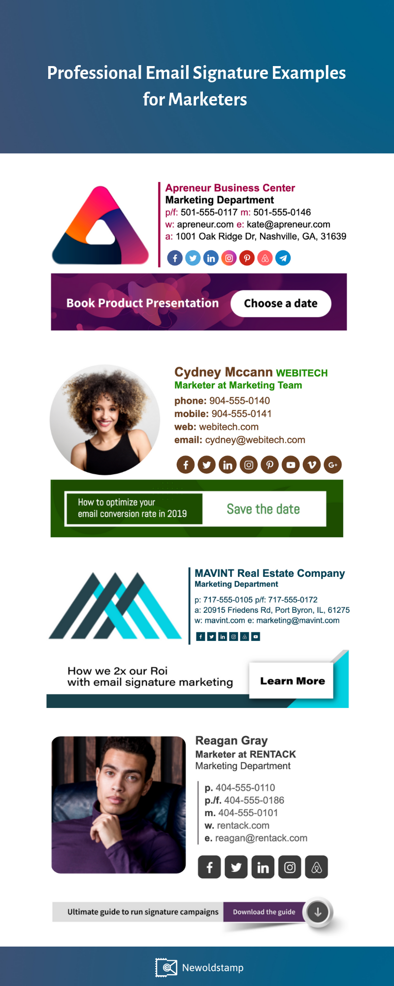 Professional Email Signature Examples for Marketers