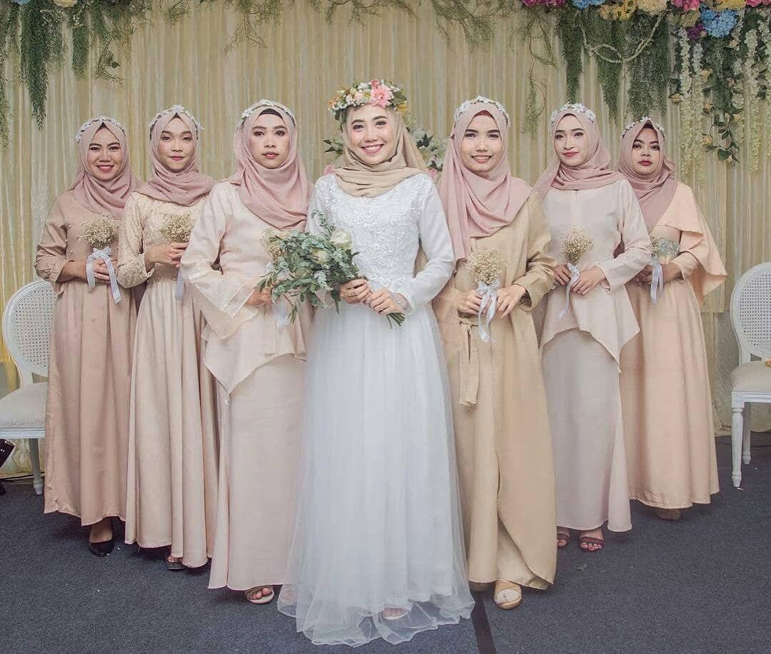 Wedding Dress Baju Pengantin Muslimah Simple - ADDICFASHION