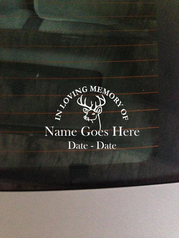 Buck in loving memory decal window sticker by greenmountainvinyl 9 00