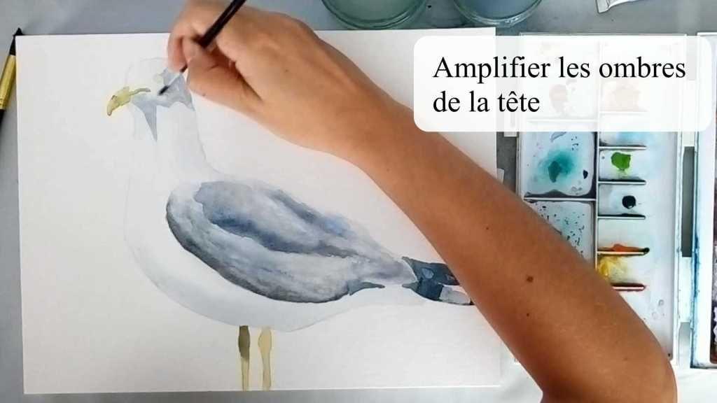 Mouette A L Aquarelle Un Tutoriel Pas A Pas En 2020 Peinture