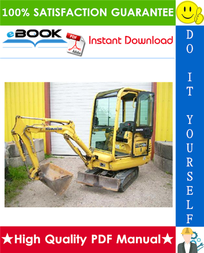 Komatsu Pc12r 8 Pc15r 8 Hydraulic Excavator Service Repair Manual S N F30001 And Up F20001 And Up Hydraulic Excavator Komatsu Repair Manuals