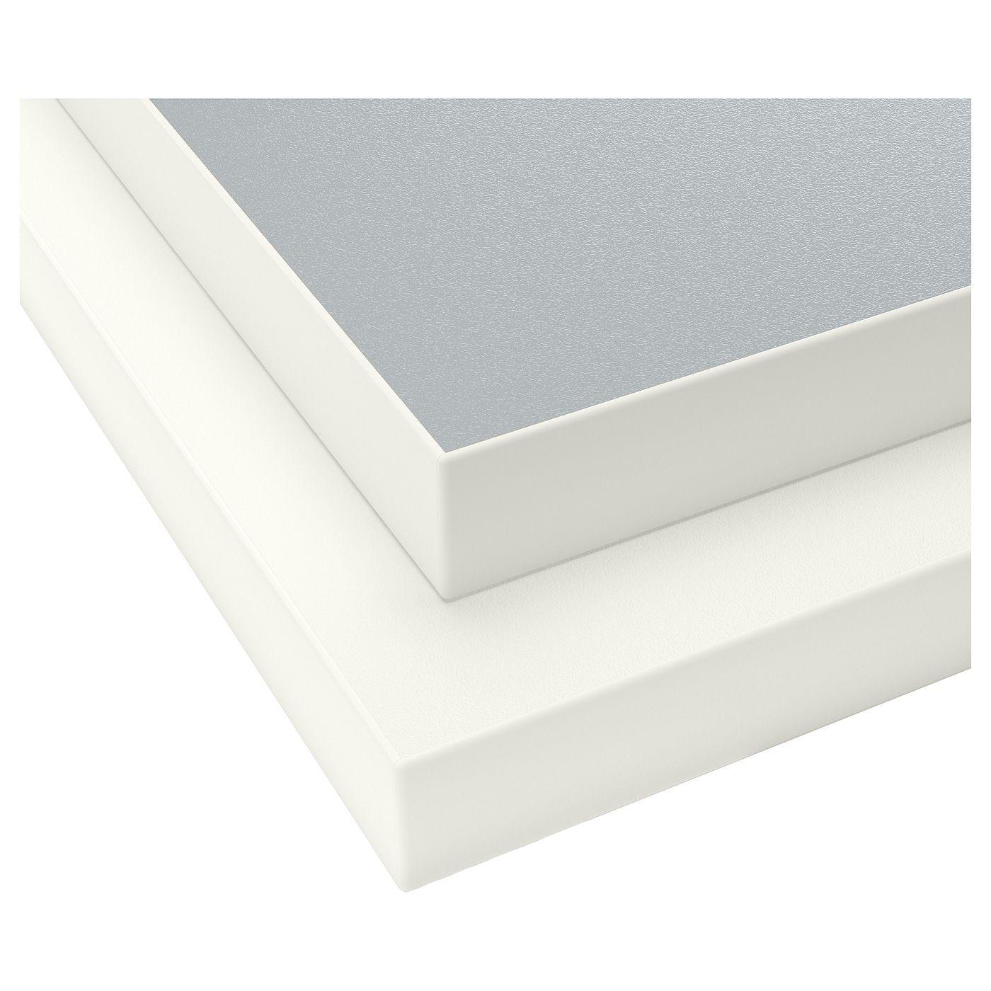 Ekbacken Countertop Double Sided With White Edge Light Gray Light Gray White Laminate White 74x1 1 8 Ikea In 2020 White Laminate Laminate Countertops Countertops