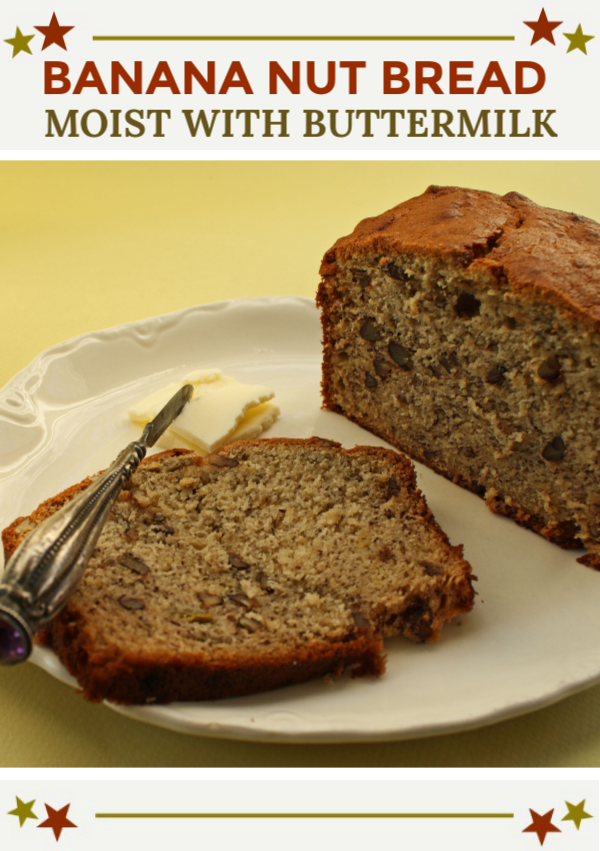Old Fashioned Banana Nut Bread Recipe Recipe Banana Nut Bread Recipe Banana Nut Bread Buttermilk Recipes