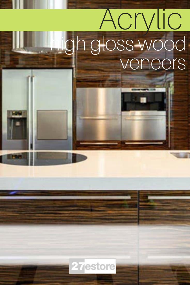 High Gloss Wood Veneer Cabinet Doors By 27estore Kitchen Cabinet Trends Wood Veneer Kitchen Cabinet Colors