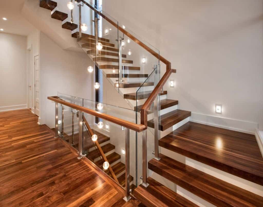 Best Wood To Use For Staircase Treads In 2019 Modern Stairs 400 x 300